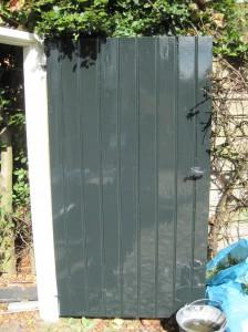 Poortdeur kraalschroot op frame